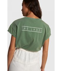 alix 203892594 ladies knitted boxy the label t-shirt groen