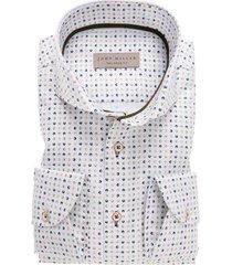 john miller overhemd tailored fit print wit