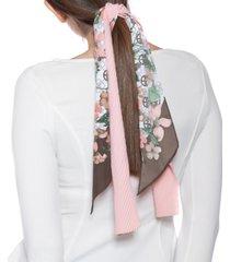 giani bernini logo floral & solid twilly scarf set