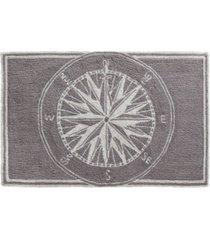 """liora manne frontporch compass black and gray 1'8"""" x 2'6"""" area rug"""