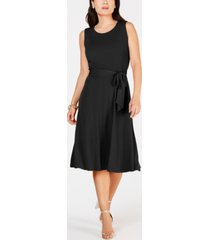 charter club petite belted midi dress, created for macy's