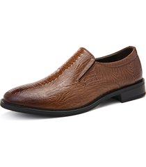 modello elegante coccodrillo uomo slip on dress shoes formale