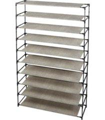 simplify 10 tier 50 pair shoe rack