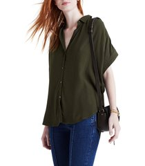 women's madewell central drapey shirt, size x-small - green