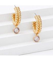 loft gem drop braided hoop earrings