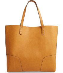 sole society lilyn faux leather tote - yellow