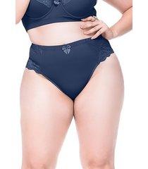 calcinha sempre sensual lingerie vintage marinho - azul - feminino - dafiti