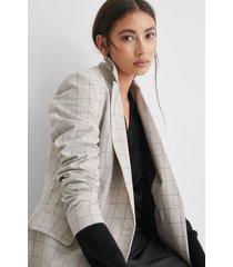 na-kd classic rutig blazer - grey