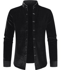 long sleeve velour button fleece shirt
