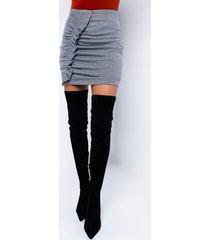 akira check me out ruched mini skirt