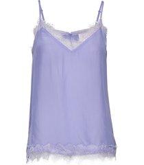macy strap top t-shirts & tops sleeveless blauw second female