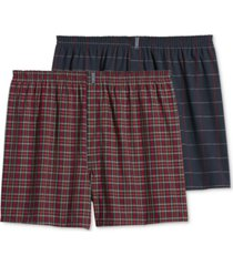 jockey men's big & tall classic boxers 2-pack