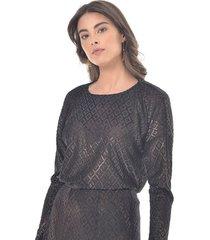 blusa para mujer en poliester color-negro-talla-xs