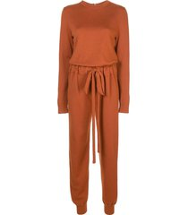 oscar de la renta crew neck jumpsuit - orange
