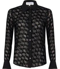 blouse met logo print
