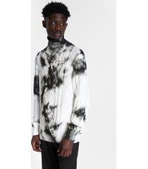 tie-dye knit jumper - white - xxl