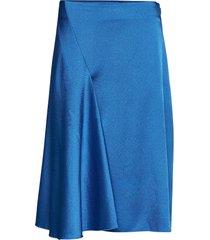 eva skirt 11163 knälång kjol blå samsøe samsøe