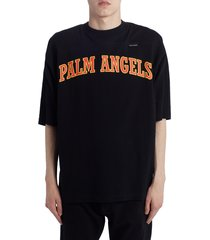 men's palm angels new college logo graphic t-shirt