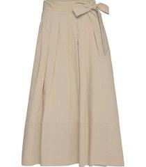 oblare knälång kjol beige weekend max mara