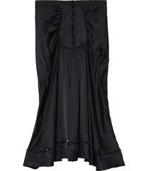 marc jacobs the 40's silk skirt - black