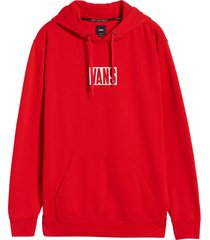 men's vans new stax logo hooded sweatshirt