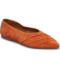 inez orange suede ballerinaskor ballerinas orange flattered