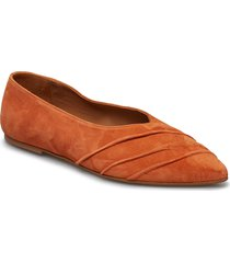 inez orange suede ballerinaskor ballerinas orange flattered