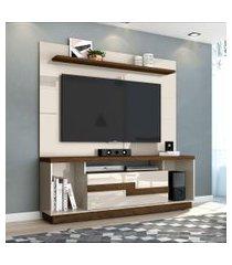 rack com painel para tv 65 polegadas bia off white e savana 160 cm