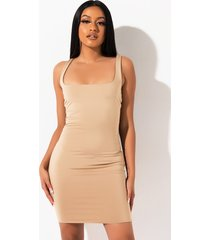 akira sincerely yours square neckline mini dress
