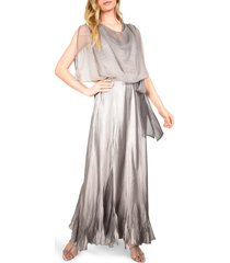 women's komarov cowl neck popover gown