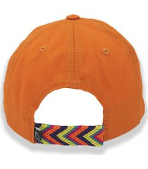 gorra naranja otun tejido wayuú naranja, amarillo y morado