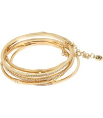 jessica simpson pave mixed bangle bracelet set
