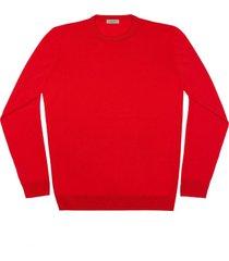 maglione da uomo, lanieri, extra fine rosso fuoco, quattro stagioni | lanieri