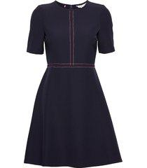 angela dress ss korte jurk blauw tommy hilfiger
