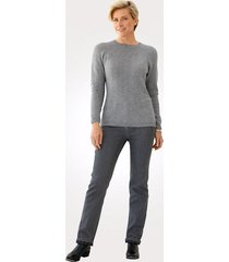 fodrade jeans toni mörkgrå::blå