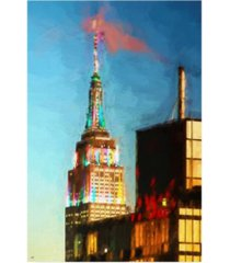 """philippe hugonnard top of the empire state building canvas art - 27"""" x 33.5"""""""