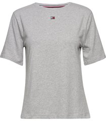 bn tee half t-shirts & tops short-sleeved grå tommy hilfiger