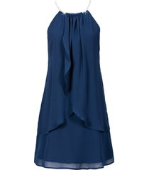 abito in chiffon con collier (blu) - bodyflirt