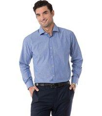 camisa formal texturada azul arrow