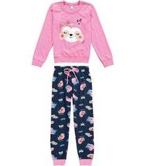 pijama longo estampado brilha no escuro malwee liberta malwee liberta feminino