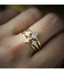 0.20 ct diamond 925 silver starburst frozen engagement ring matching bands set