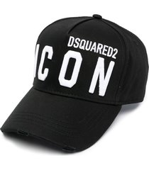 dsquared2 black jersey hat with logo