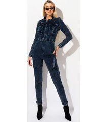akira nothing but you denim jumpsuit
