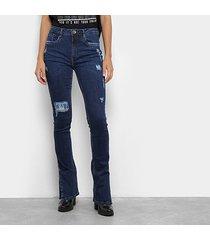 calça jeans my favorite thing (s) boot cut high feminina