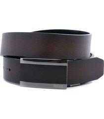 cinturón doble faz de cuero grabado
