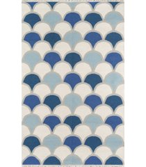 novogratz topanga top-2 blue 2' x 3' area rug