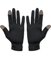 luva segunda pele térmica frio touch screen  preto - kanui