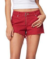 renee mid-rise cut off denim shorts