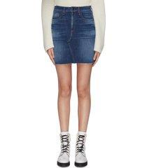 'hayden' denim mini skirt