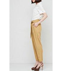 spodnie wiązane pasem